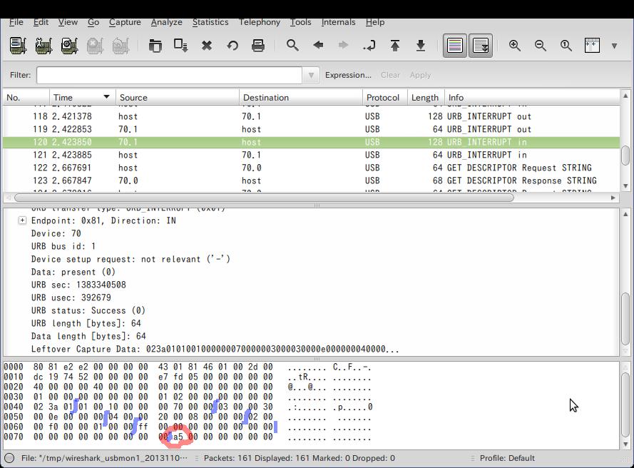Screenshot-USB bus number 1   [Wireshark 1.6.7 ]