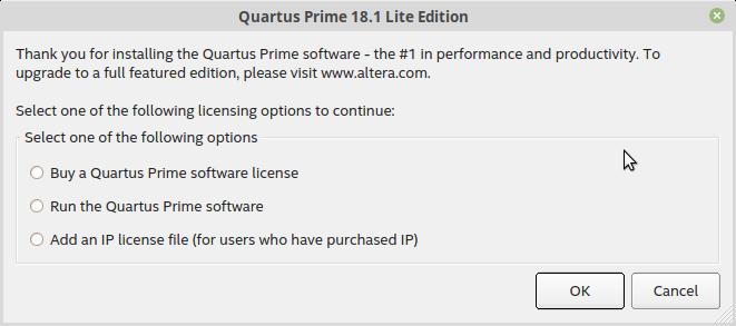 Quartus Prime Lite と ModelSim Starter をインストール | ともの技術メモ